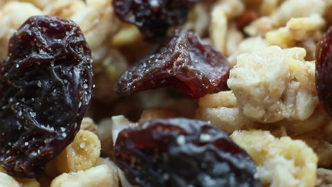 Musli With Raisins Footage