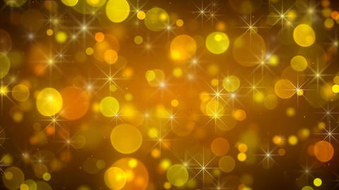 Golden bokeh light loopable background Animation