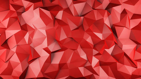 Red glossy polygonal geometric surface seamless loop Animation