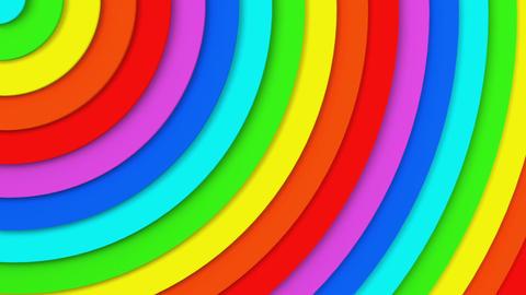 Rainbow concentric circles 3D animation seamless loop Animation