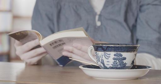 図書館で読書をする女性 ライブ動画
