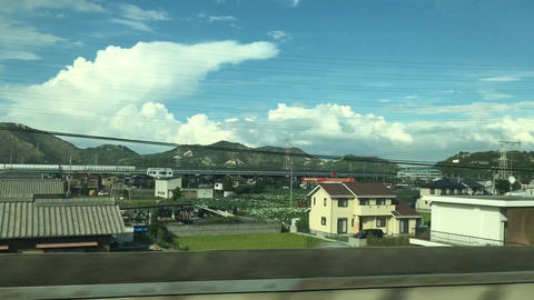 TheViewFromJapaneseTrain1 스톡 비디오 클립, 영상 소스, 스톡 4K 영상