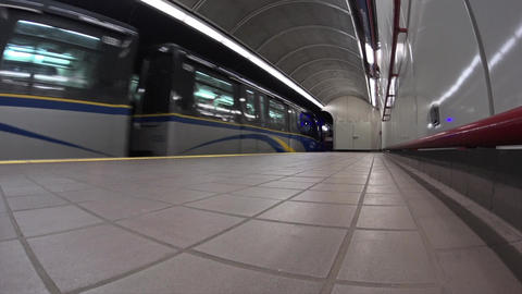 Underground Train in Vancouver Footage