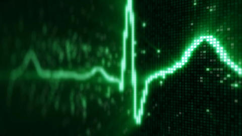 EKG electrocardiogram pulse waveform loopable animation CG動画素材