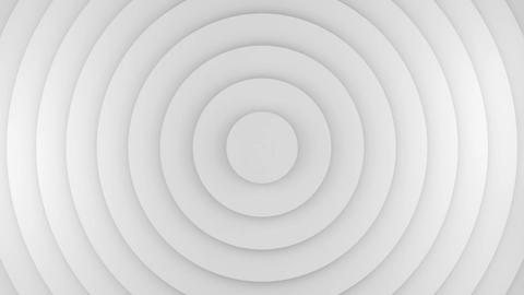 White circles growing 3D animation seamless loop Animation