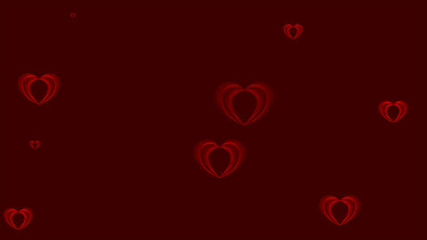 Abstract red hearts video animation Animation