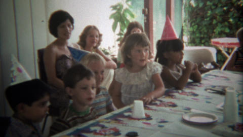 1979: Cute boys birthday party cake neighborhood playmate party Live Action