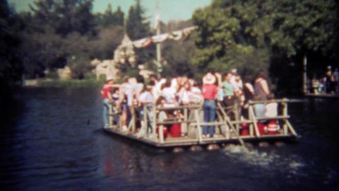 1979: Disneyland Tom Sawyer Island ferry boat river cruise trip Footage