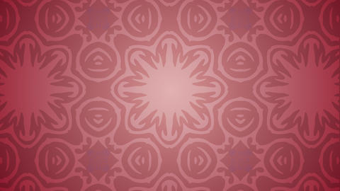 Ornament Floral Kaleidoscope Background stock footage