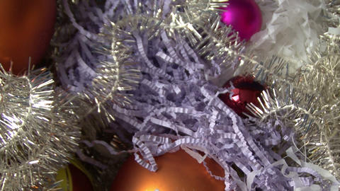 Christmas tinsel and balls Footage