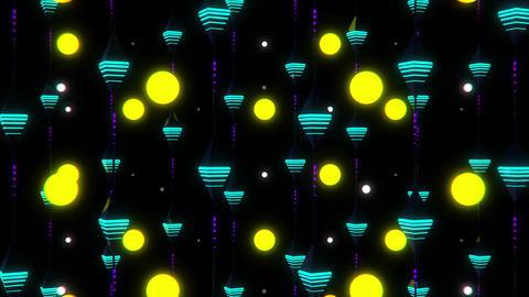 Neon Rain VJ Loop 2 Animation