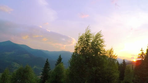 Sunrise over the Mountains Footage