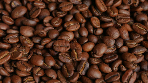 Light roasted coffee beans Footage