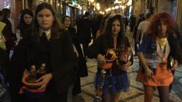 Portuguese students celebrate 'La Tarda' Coimbra Portugal Image