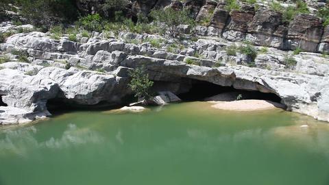 Pedernales river in Pedernales Falls State Park Footage