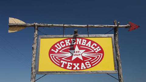 Luckenbach Texas entrance sign Live Action