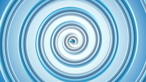 Blue spiral spinning seamless loop abstract 3D animation Animation