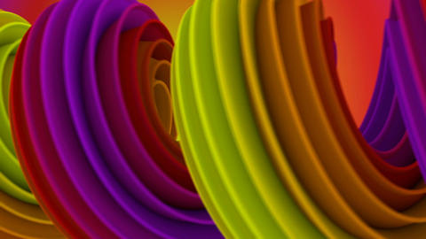 Twisted 3D shape spinning seamless loop Animation