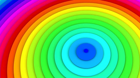 Rainbow spectrum concentric lines 3D animation seamless loop Animation
