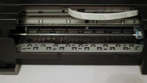 Printing Text On The Printer 5 Footage