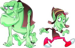 Ogre and Elf Vektor