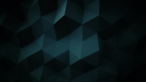 Dark blue low poly geometric surface loopable 3D animation Animation