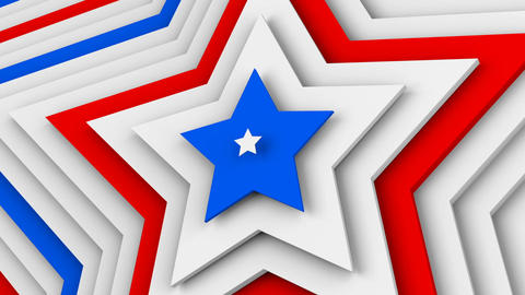 USA flag stars 3d render seamless loop animation Animation