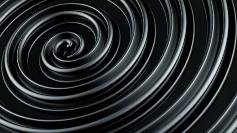 Black twisted spiral shape spinning loopable 3D animation Animation