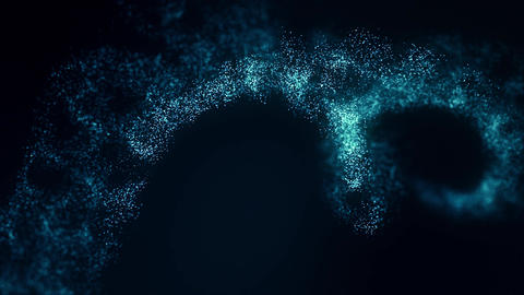 Abstract motion light-blue particles Animation