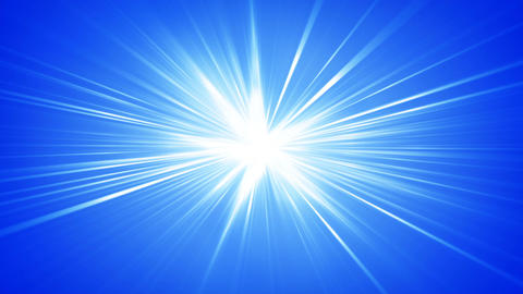 Blue rays shining abstract seamless loop background Animation