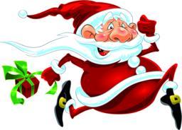 Santa Claus Running Vector