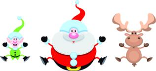 Christmas cartoon characters ベクター