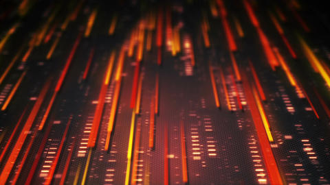 Data transfer abstract technology orange background loopable Animation