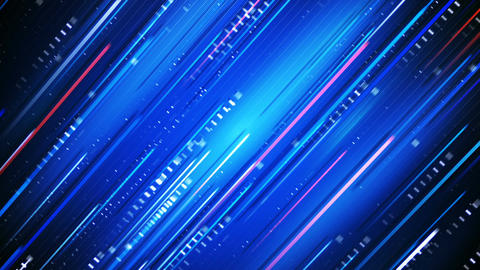 Blue glowing lines loopable technology background Stock Video Footage