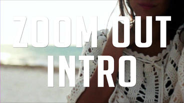 ZOOM OUT INTRO After Effects Templates
