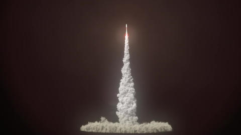 Detailed realistic animation of Rocket Launch Animation