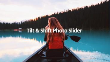 Tilt&Shift Photo Slider V1.2 After Effects Template