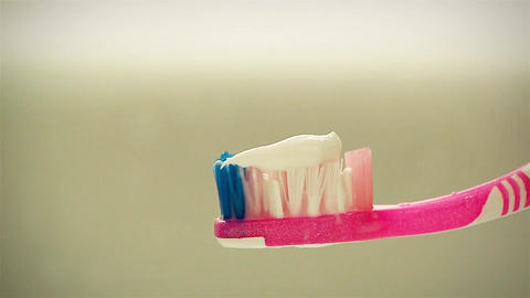 Toothbrush And Toothpaste Filmmaterial