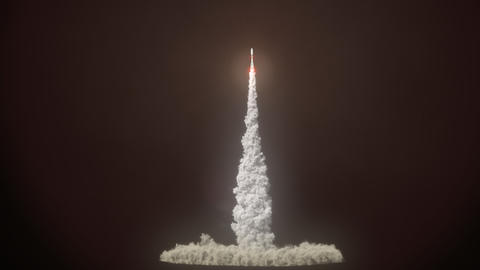 Detailed realistic animation of Rocket Launch CG動画素材