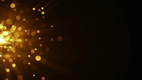 Yellow circle blurred lights on the edge seamless loop animation Animation