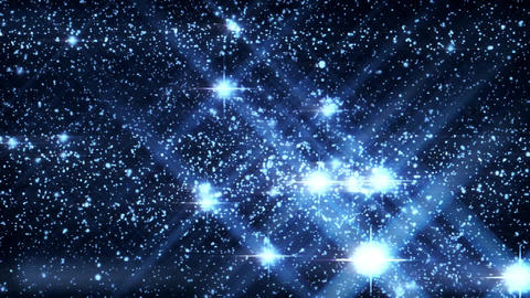 Inside a Blue HoloMatrix Starfield Motion Graphic Background