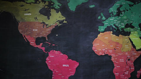 The World Map 80 Footage