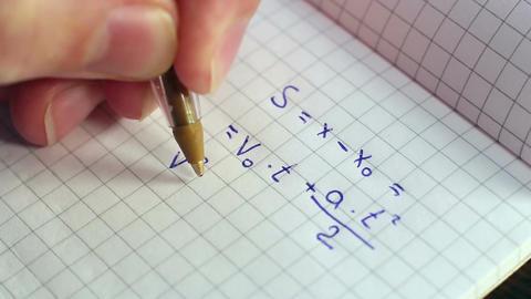 Writing Formulas Of Physics Footage
