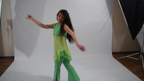 Girl dancing folk dance Live Action