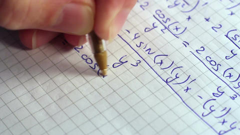 Writing Formulas Of Mathematics 4 Footage