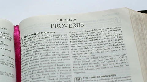 The Book Of Proverbs Footage