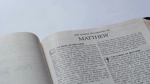 The First Page Of The New Testament Footage