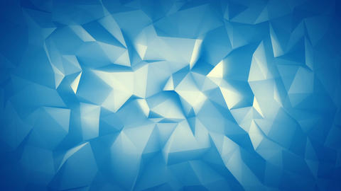 Cyan low poly 3D surface seamless loop animation Animation