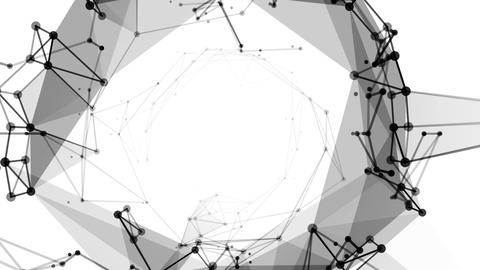 Abstract Moving Connection Structure Background CG動画素材