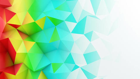 Bright color gradient polygonal surface loopable 3D animation Animation